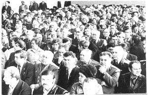 Киносеансы на районный мероприятиях. 80-е гг.