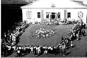 Мероприятие для пионерских лагерей, расположенных вблизи с. Миасское, 80-е гг.